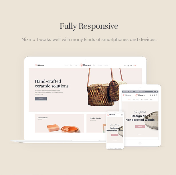 Handmade WordPress Theme with mobile ready