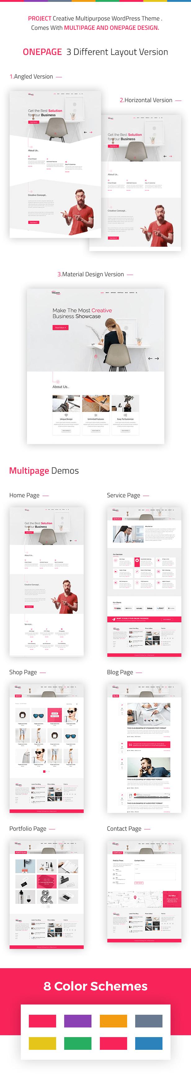 Project - Creative Multipurpose WordPress Theme Flexibility