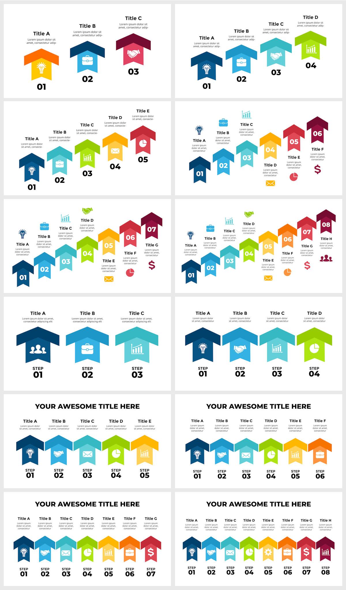 Huge Infographics Bundle! Lifetime Updates! PowerPoint, Photoshop, Illustrator. - 241