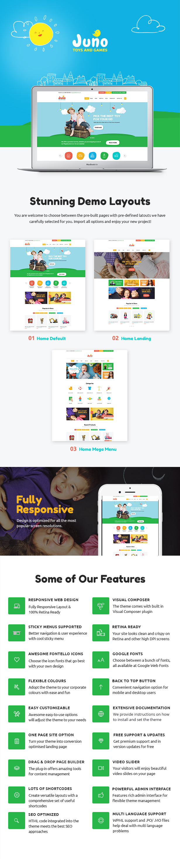 Template Wordpress Woocommerce Kids