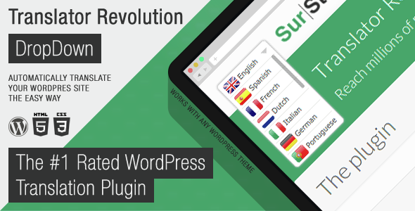 Translator Revolution DropDown WordPress Plugin