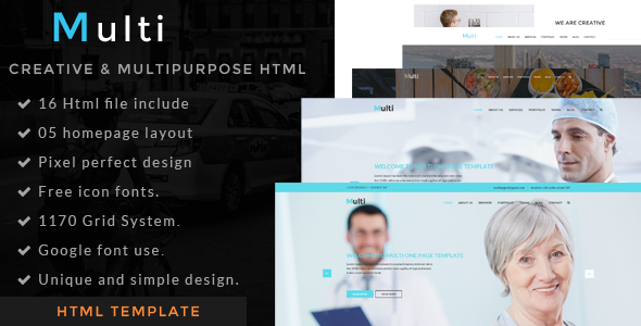 Multi - one page  html template - Portfolio Creative
