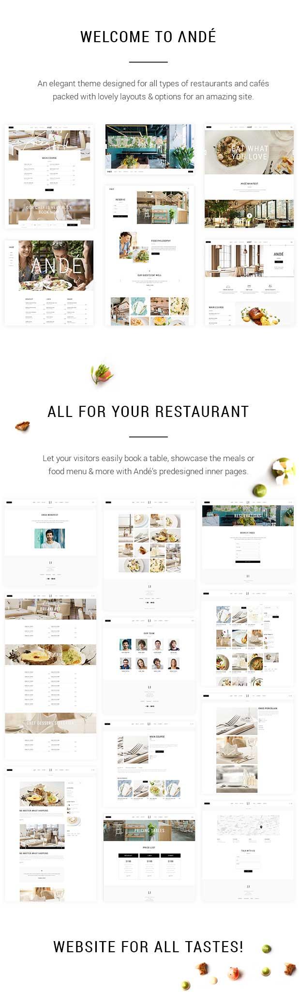 Andé - Elegant Restaurant Theme - 1