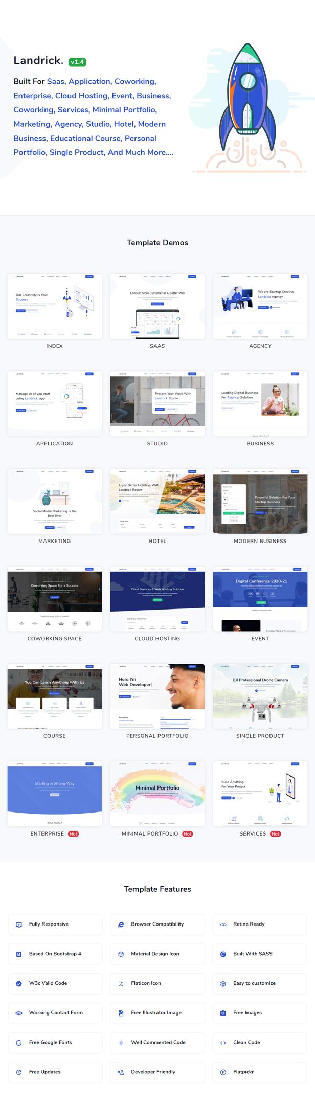 Landrick - Saas & Software Landing Page Template - 2