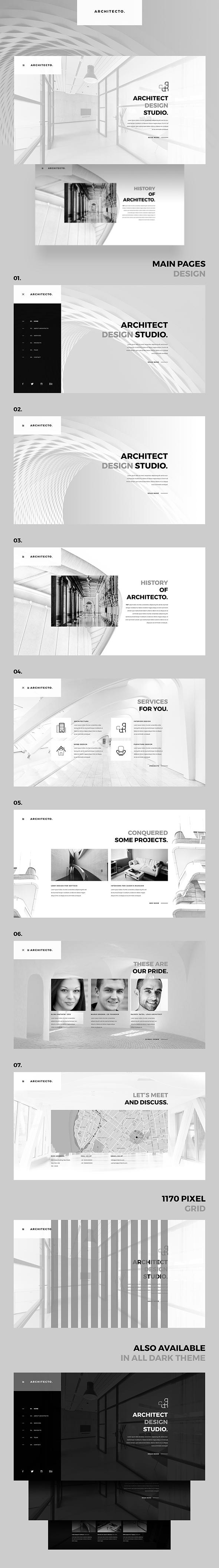 Architecto Architecture Studio PSD Template