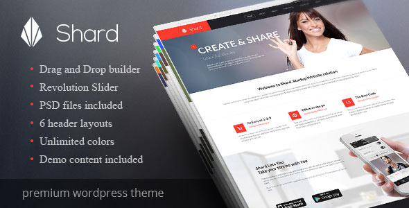 Shard - Multipurpose Business Parallax WP Theme