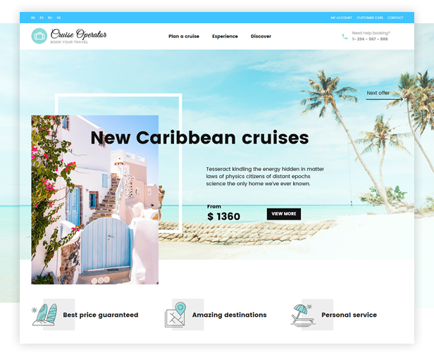Book Your Travel - Online Booking WordPress Theme - 4