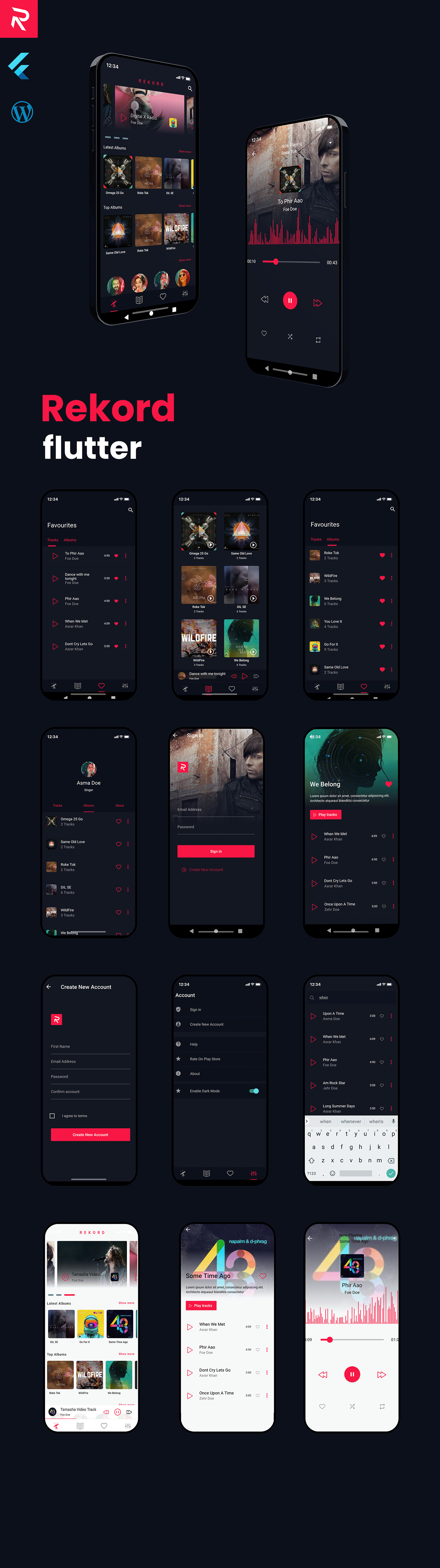 Rekord Flutter Music Application - 1