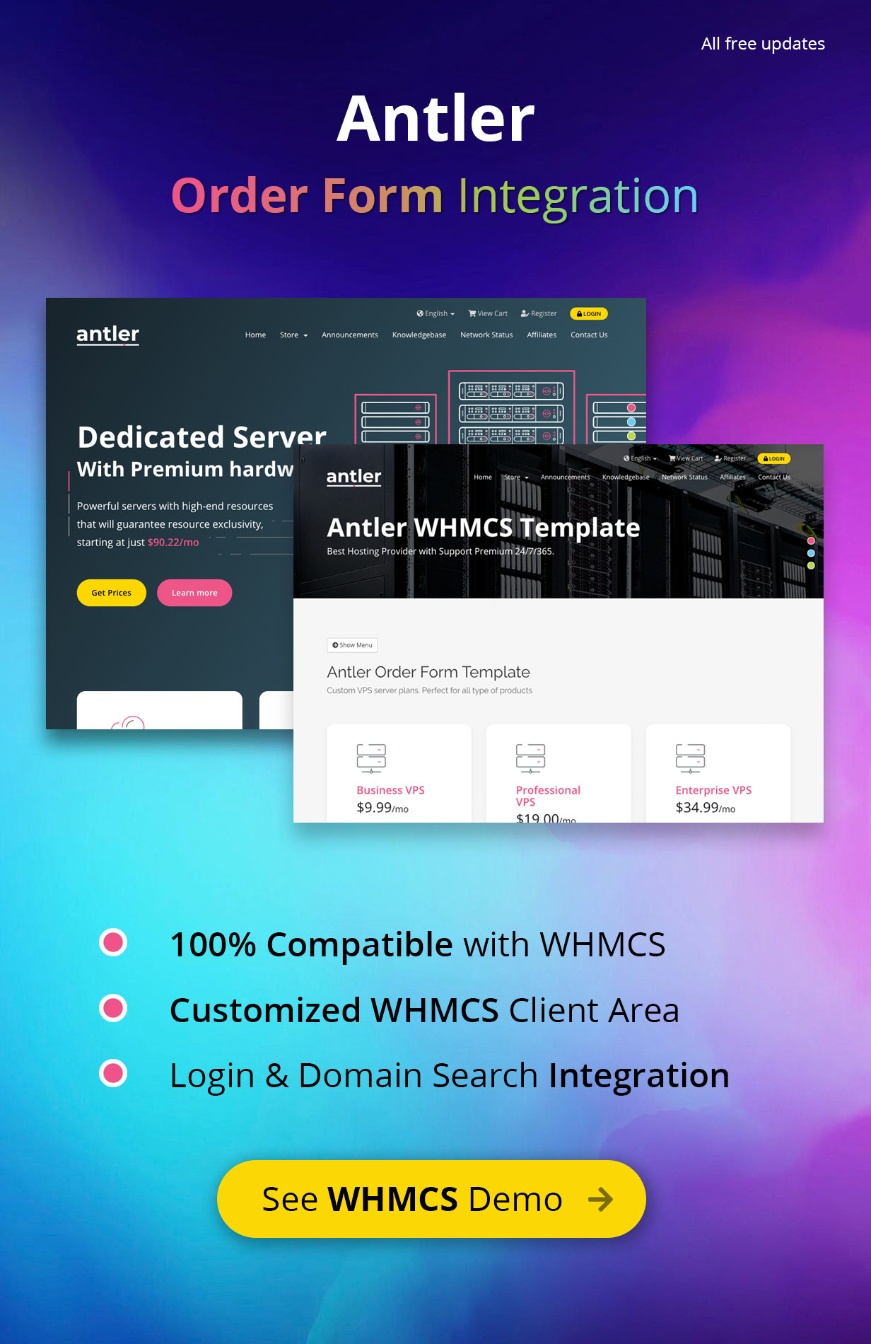 Antler - Hosting Provider & WHMCS Template by inebur | ThemeForest