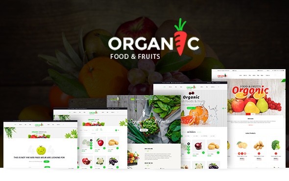 Organic Foods and Fruits PSD Template - 1