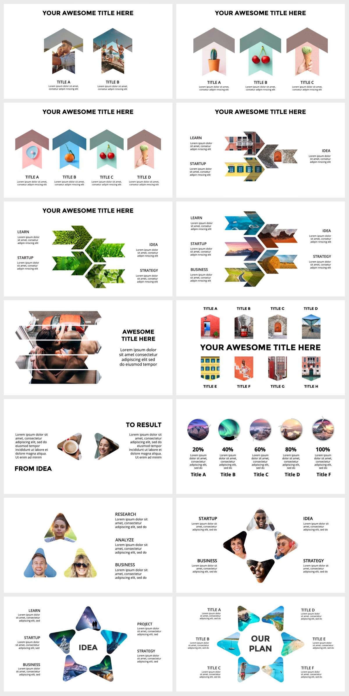 Huge Infographics Bundle! Lifetime Updates! PowerPoint, Photoshop, Illustrator. - 140