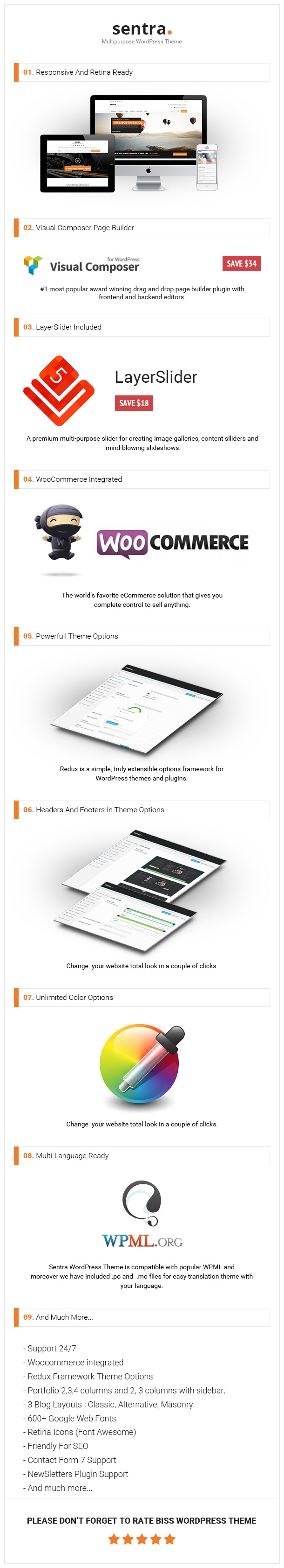 Sentra - Tema Corporativo Multipurpose WordPress