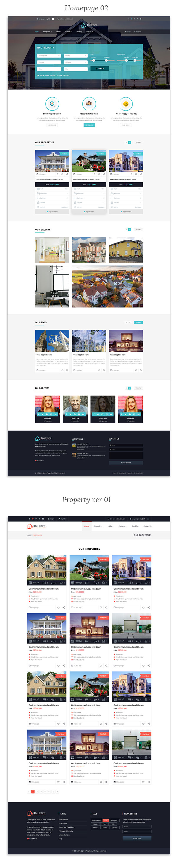 Real Estate Wordpress Theme - 5