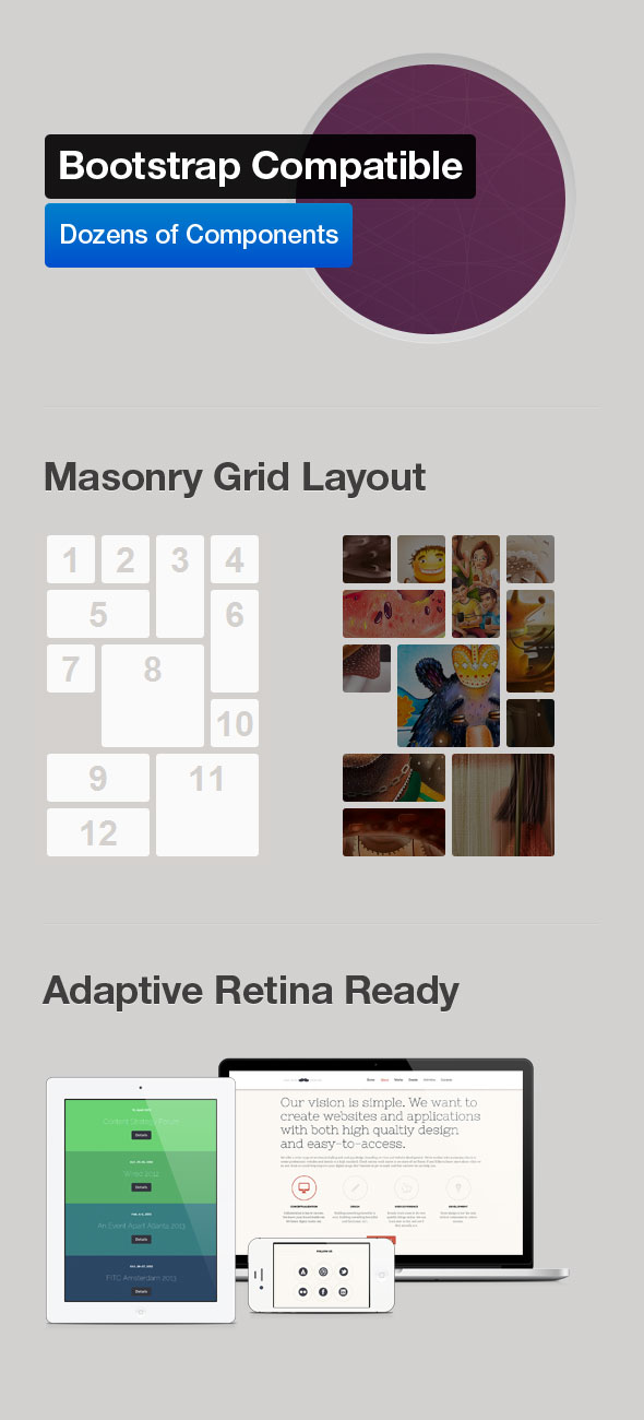 Mustache - Onepage Retina HTML Template - 1