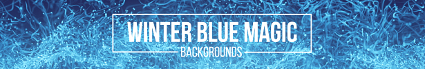 Winter Blue Magic Backgrounds