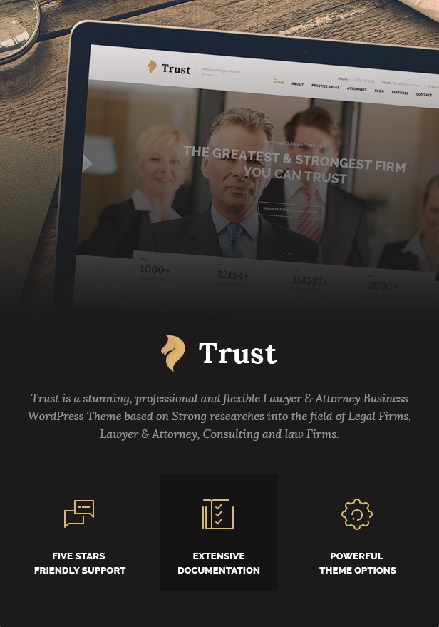 Trust Business - Lawyer and Attorney WordPress Theme - 4