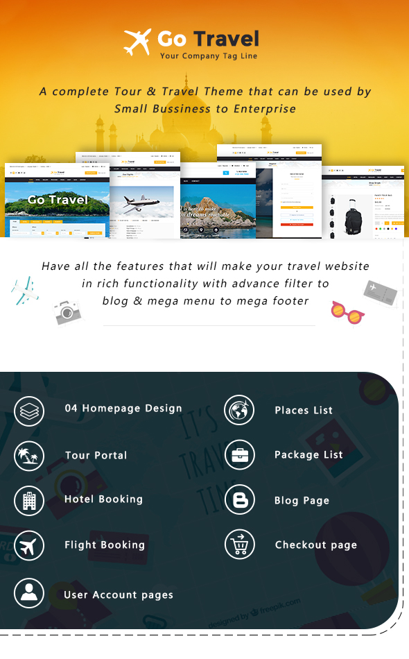 Travel PSD Template - 1