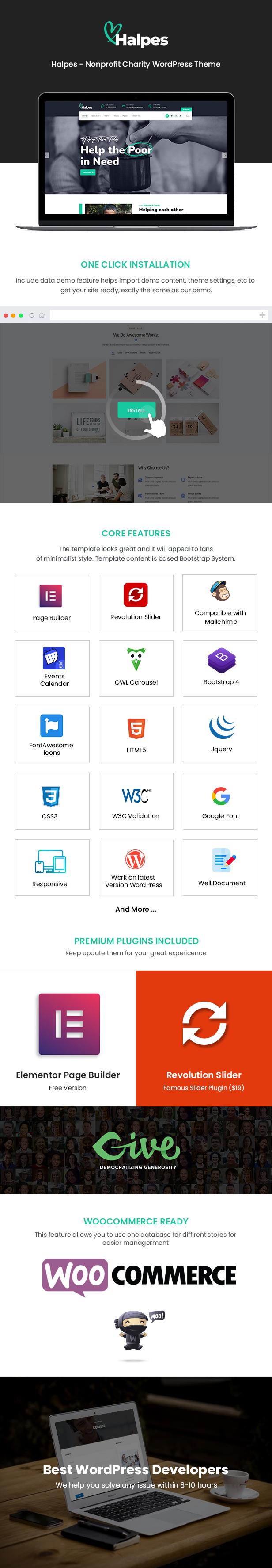 Tema de WordPress de Halpes