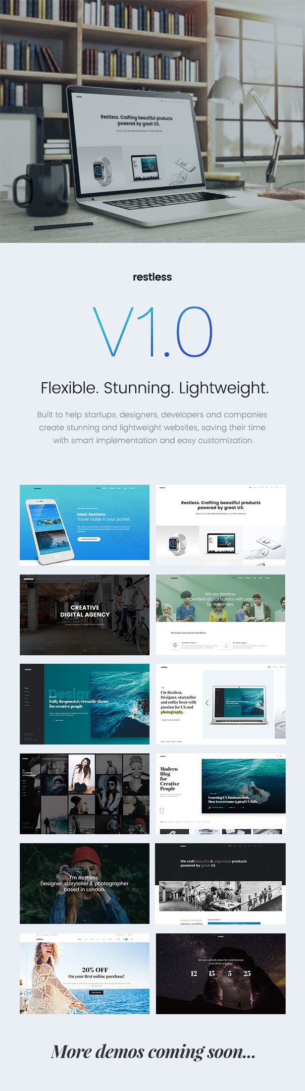 Restless Stunning and flexible multi-purpose HTML Template
