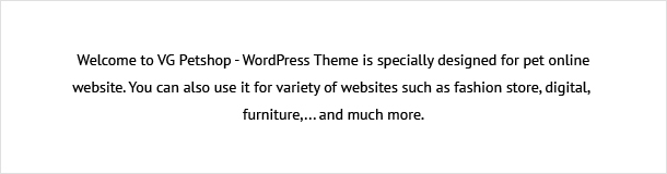 VG Petshop - Creative WooCommerce theme for Pets and Vets - 15