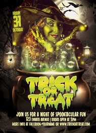 Design Cloud: Trick or Treat Halloween Flyer Template Flyer