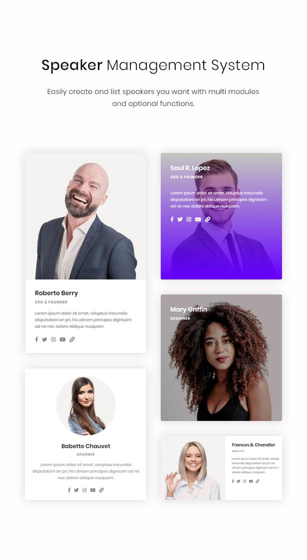 WordPress speaker theme