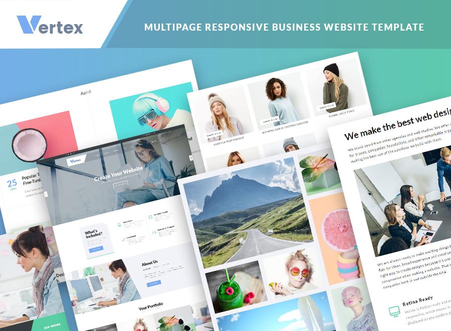Vertex - Multipage Business Website Template - 2