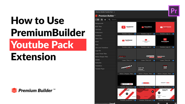 Youtube Pack - MOGRTs for Premiere & Extension Tool - 51