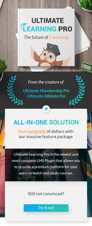 Ultimate Learning Pro WordPress Plugin - 1