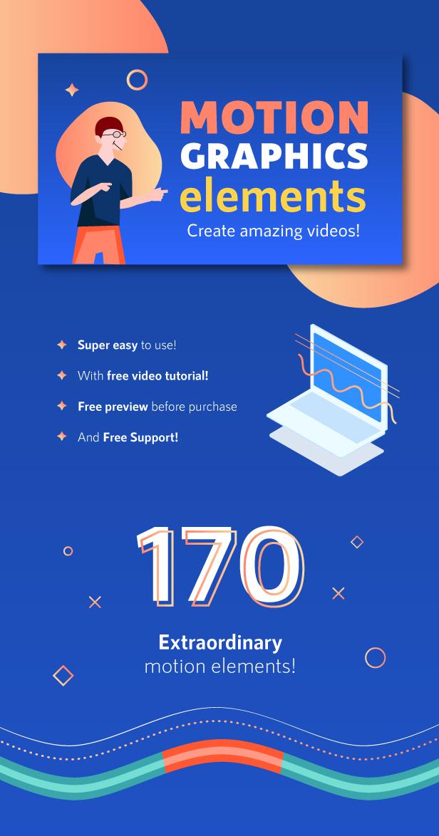 Motion Graphics Elements Pack | MOGRT for Premiere Pro - 1