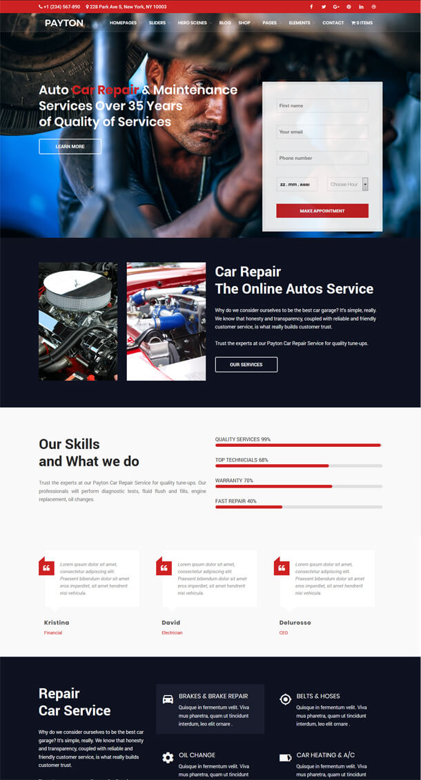 Payton - Business Creative WordPress Theme - 5