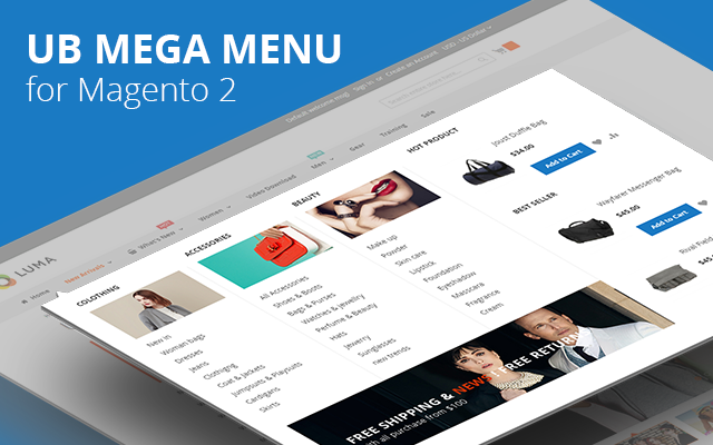 [Magento 2] UB Mega Menu Extension