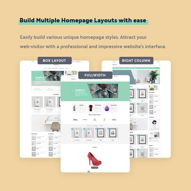 build multiple homepage layouts with ease