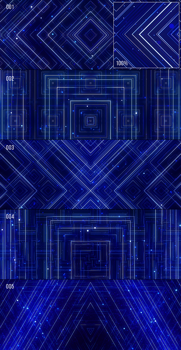 VJ Blue Lines
