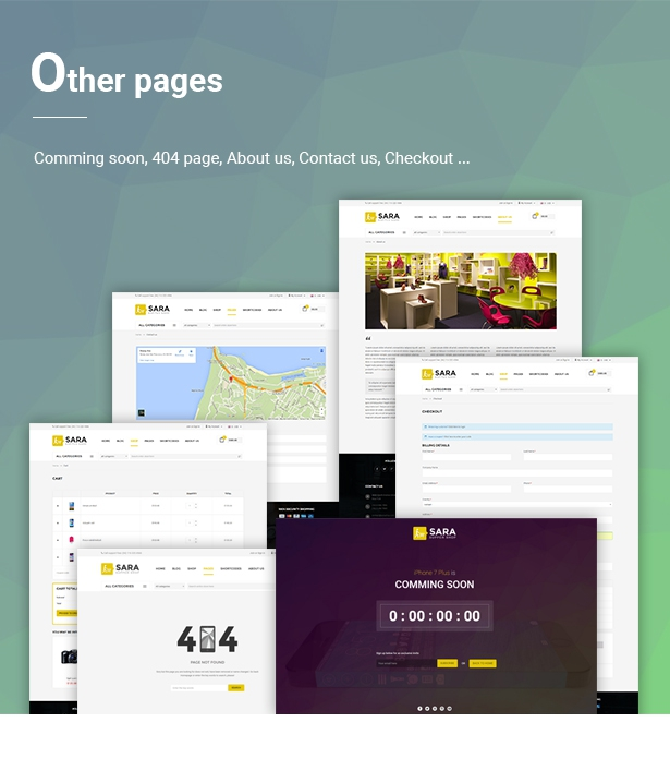 Sara - WooCommerce WordPress Market Theme - 8