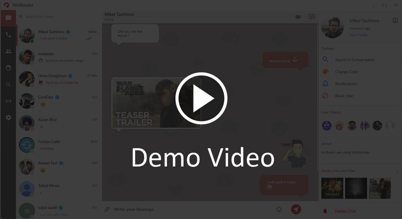 WoWonder Desktop - A Windows Messenger For WoWonder Social Script - 1