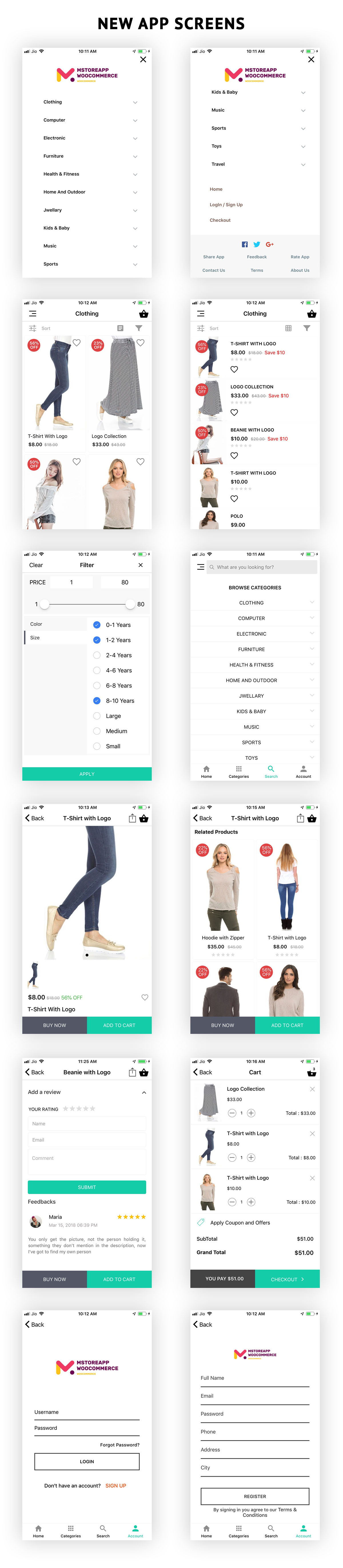 WooCommerce Mobile App ionic full application Lifestyle theme - 3