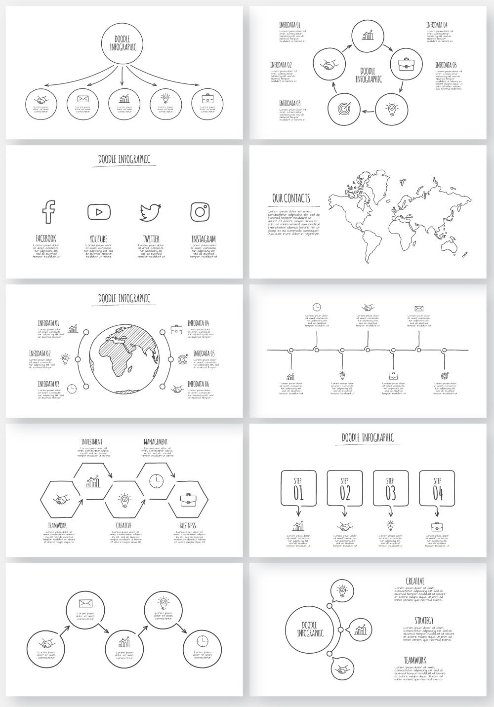 Multipurpose Infographics PowerPoint Templates v.5.0 - 149