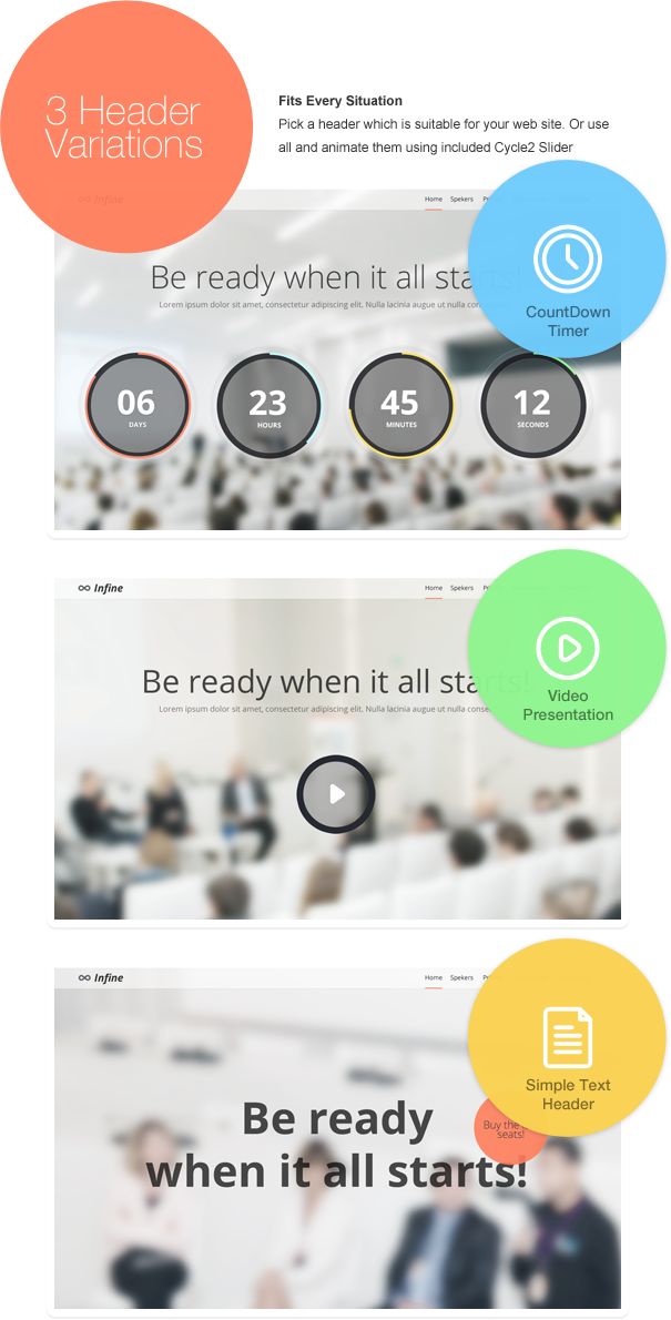 Infine - One Page Conference & Event Drupal Theme - 6