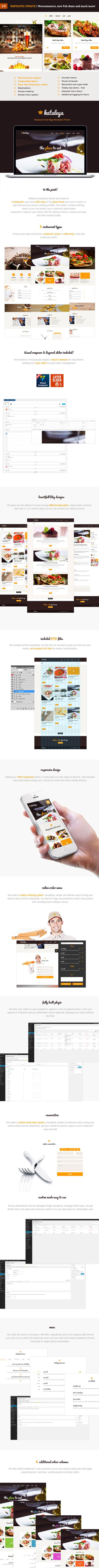 Kataleya - Restaurant Pizza Coffee WordPress Theme - 1