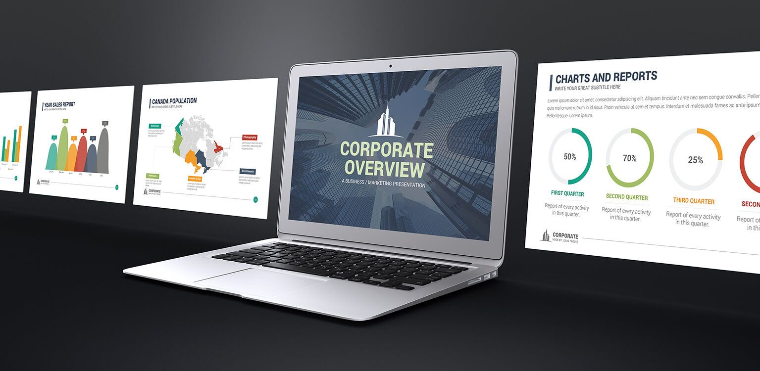 corporate overview powerpoint templatelouistwelve-design, Presentation templates
