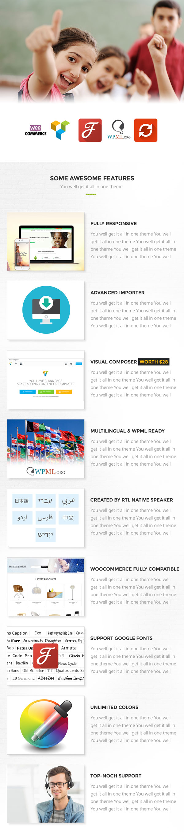 Nonprofit - NGO, Charity/Fundraising WordPress Theme