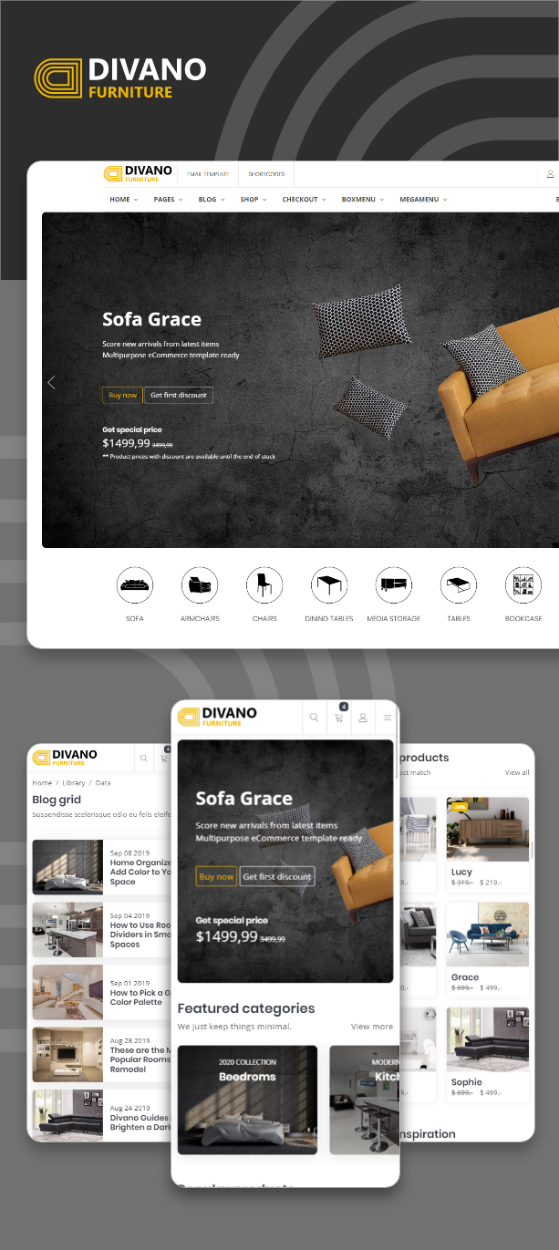 Divano v1.0-简约大气的家具公司/家居用品HTML网站模板插图2