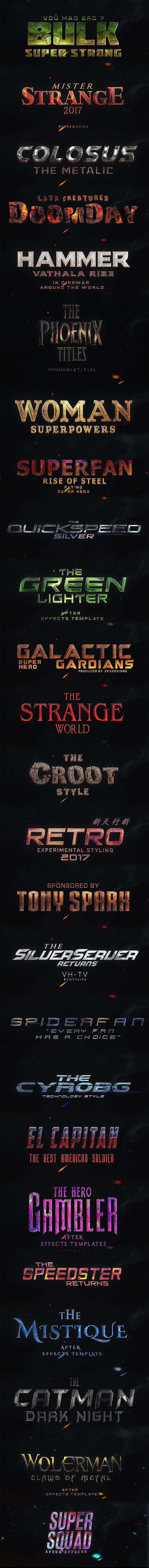 25 SuperHero Titles Pack For Premiere Pro | Mogrt - 27