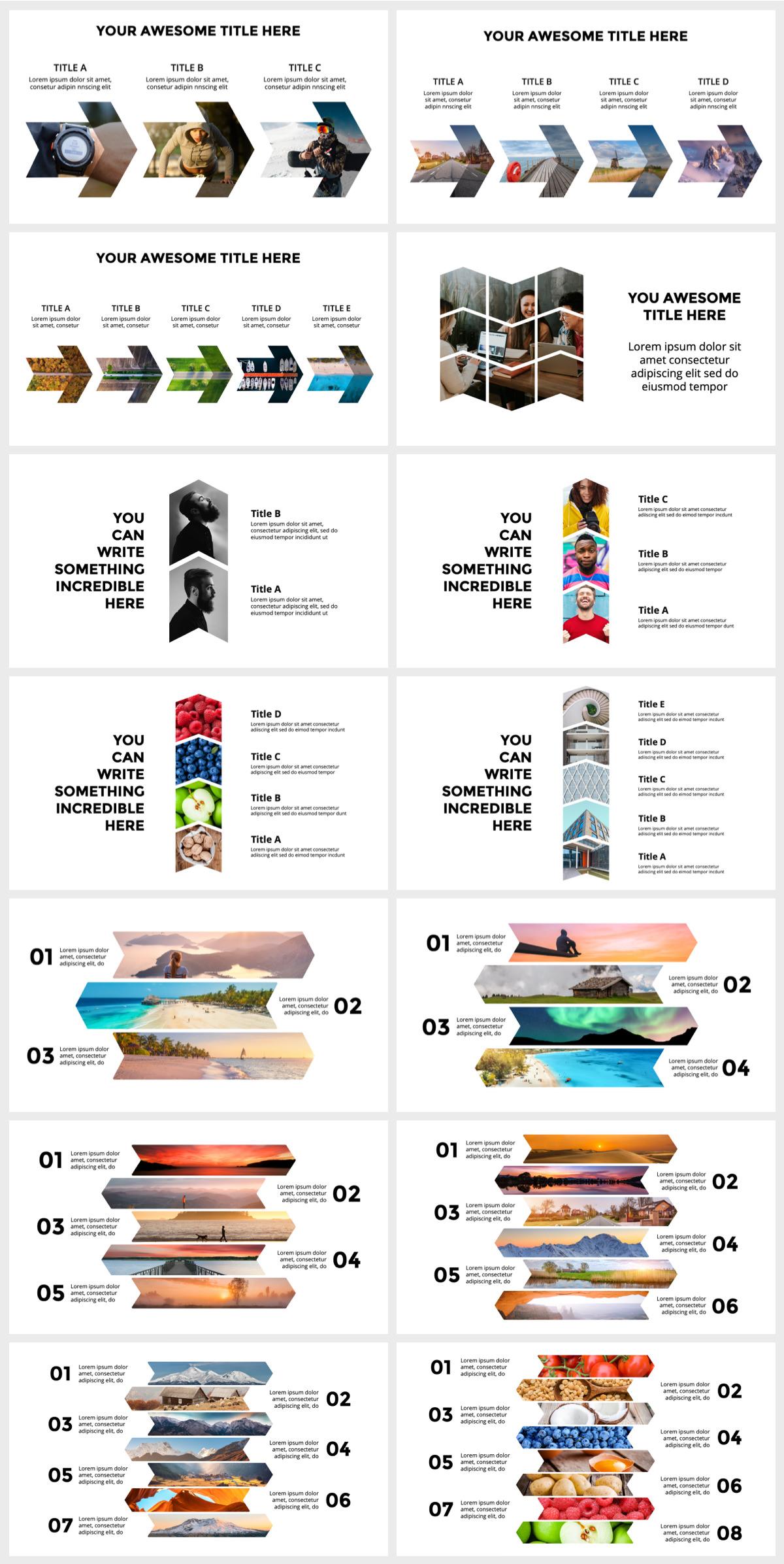 Huge Infographics Bundle! Lifetime Updates! PowerPoint, Photoshop, Illustrator. - 144