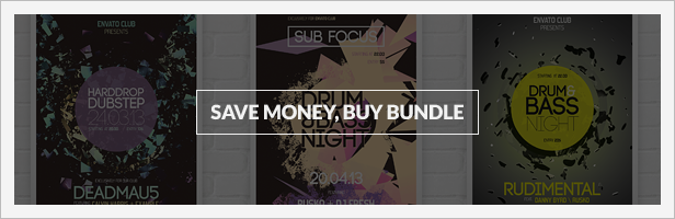 Bundle 3x Minimal Typography Event Flyers, Posters