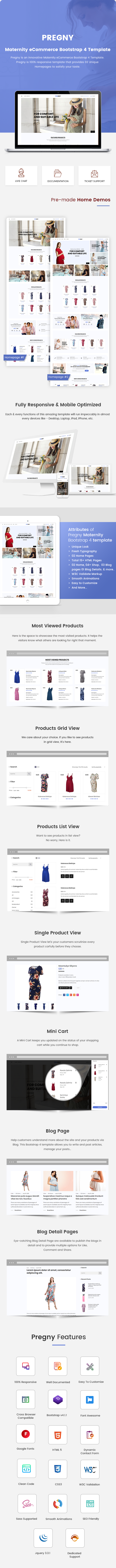 Maternity eCommerce Bootstrap 4 Template