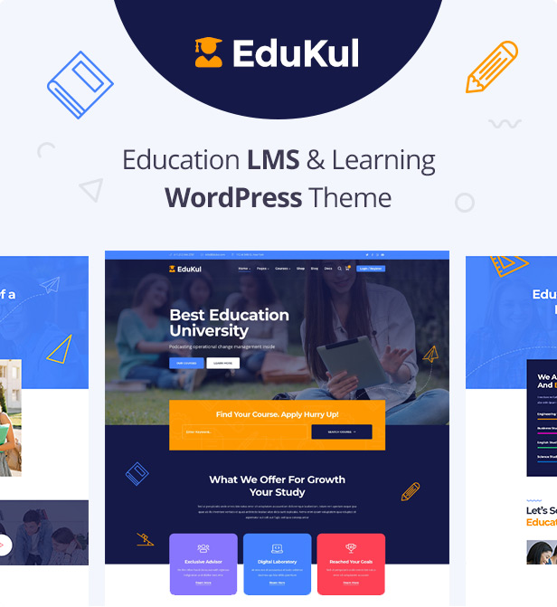Edukul | Education LMS & Courses WordPress Theme - 5