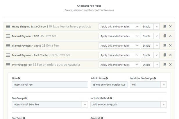 WooCommerce Checkout Fees Module