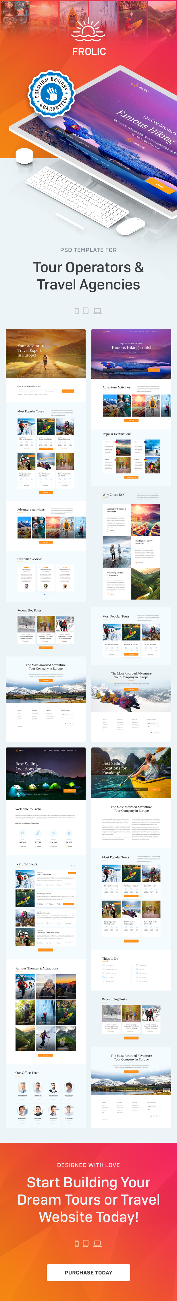 FROLIC - PSD Template for Tour Operators & Travel Agencies